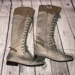 Kelsi Dagger Jutta Leather Knee High Riding Boots